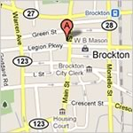 Map of 63 Main street, Brockton, MA